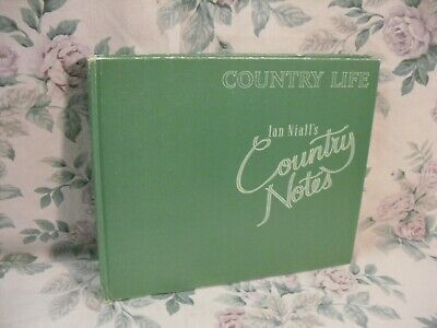 Vintage Nature Book 1987 IAN NIALL'S COUNTRY NOTES Watercolour Illustrations • 9£