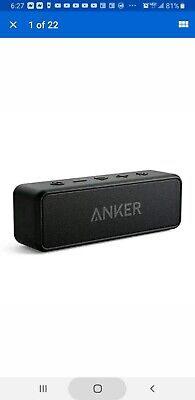 AU38.91 • Buy NEW Anker Soundcore Bluetooth Speaker With Loud Stereo Sound, Rich Bass, 24-Hour