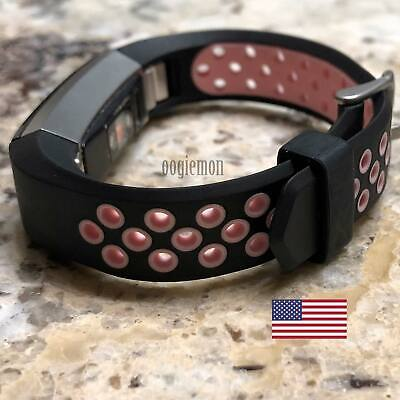 $ CDN12.42 • Buy Soft Breathable Silicone Sport Wrist Band Fitbit Alta Fitbit Alta HR BLACK PINK