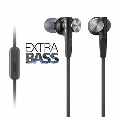 GENUINE Sony MDR-XB50AP EXTRA BASS Headphones With MIC UK Stock BLACK • 9.90£