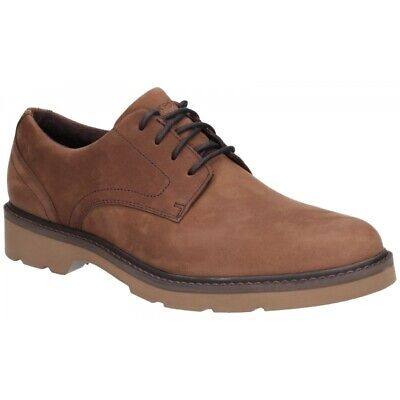 Rockport CHARLEE Mens Casual Eyelet Lace Up Waterproof Leather Derby Shoes Tawny • 88£