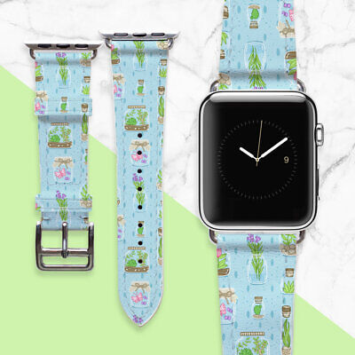 AU49.44 • Buy Smart Watch Band 38mm Genuine Leather Apple Watch Band Handmade Floral Watch