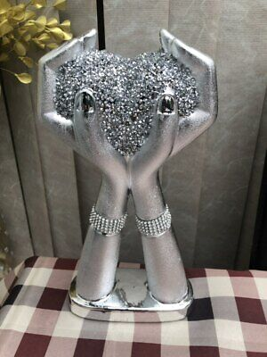 Big Silver Mirrored Sparkle Ornament, Lovely Spectacular Display  • 18.99£