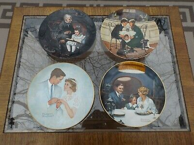 $ CDN25.19 • Buy Lot 4 Norman Rockwell Plates Strictly Limited Edition Knowles Numbered USA MINT