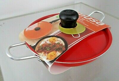 $20 • Buy IMUSA 5.5  CALDERO Red Egg Pan With Lid NEW Non-Stick Antiadherente W/ Recipes