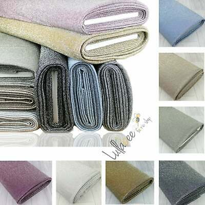 £0.99 • Buy Lurex Knitted 4 Way Stretch Sparkling Shiny Party Wear Dress Fabric Material