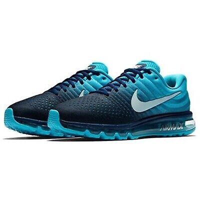 $137 • Buy Nike Air Max 2017 Running Shoes Binary Glacier Blue 849559-404  Size 10.5