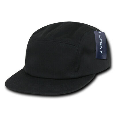 $ CDN10.07 • Buy 5 Panel Racer Cap - Black, Cotton Hat (Decky 985-BLK, New With Tags)