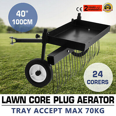 AU129.96 • Buy Lawn Core Plug Aerator 40 Ride On Mower Garden Spike Metal Steel Variable Depth