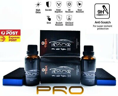 $76.28 • Buy 2XPRO Nano Ceramic Protect Car Paint Protection Glass Coating 9H+Hard FWD Pack