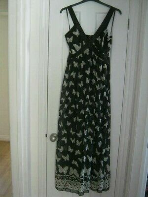 Yumi @ House Of Fraser Butterfly Maxi Dress Fully Lined Size L Fit 14 Bnwt • 15£