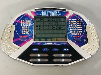 £6.38 • Buy WHO WANTS TO BE A MILLIONAIRE Tiger Electronics Handheld Video Game 2000