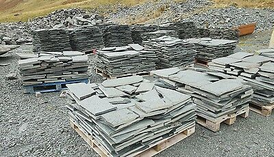 Westmorland Green Slate Crazy Paving 25mm To 40mm THICK £28m2. Minimum Order 8m2 • 28£