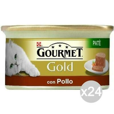 Set 24 PURINA Gourmet Gold Pate 'Chicken 85 Gr Food For Cats • 20.07£