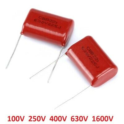 $1.80 • Buy CBB Capacitors 100V 250V 400V 630V 1600V Polyester Film Capacitor-Various Values