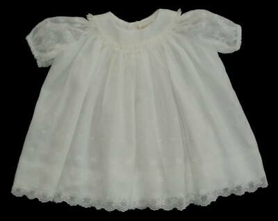 44f42f0d0 Girls White Nannette Heirloom Floral Embroidered Dress 3m Gown Bishop  Cotton • 24.50$