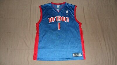 $ CDN30 • Buy Detroit Pistons Blue #1 Chauncey Billups Reebok Men's XL NBA Basketball Jersey