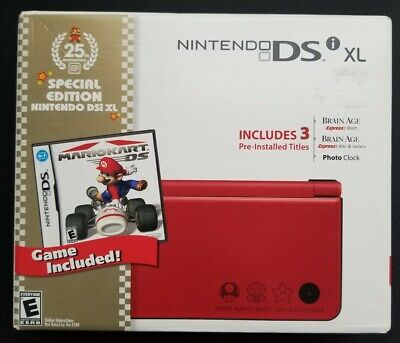 $389.99 • Buy NEW Nintendo DSi XL 25th Anniversary Edition With Mario Kart Red Handheld System