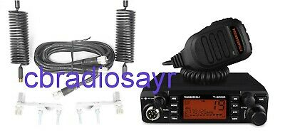 CB Radio Thunderpole T-2000 AM/FM & Twin Antenna Kit - Aerials, Harness & Mounts • 160£