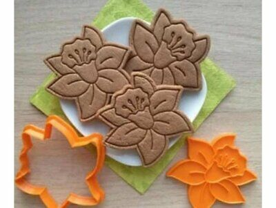 Narcissus Cookie Pastry Biscuit Cutter Icing Fondant Baking Bake Flower Garden • 5.99£
