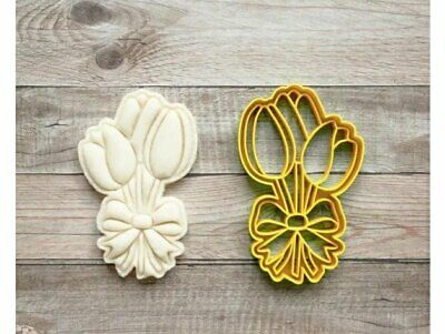 Tulip Cookie Pastry Biscuit Cutter Icing Fondant Baking Bake Flower Garden Cute • 5.99£