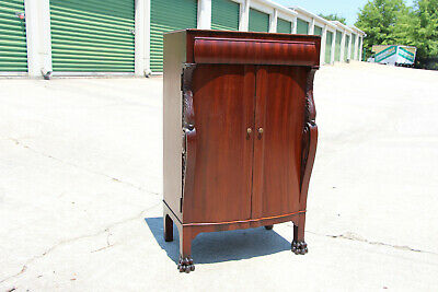 $795 • Buy Fabulous George Flint Mahogany Music File Cabinet Carved Sides And Paw Feet