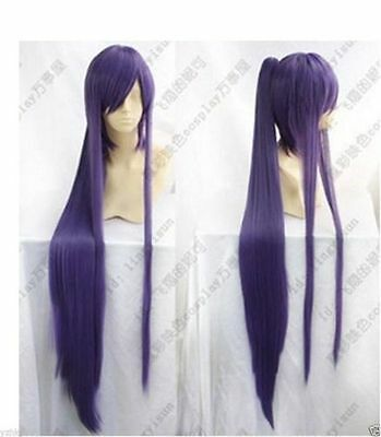 $15 • Buy Hot Sell! New Long Vocaloid Miku Gakupo Purple Cosplay Wig Clip On Ponytails