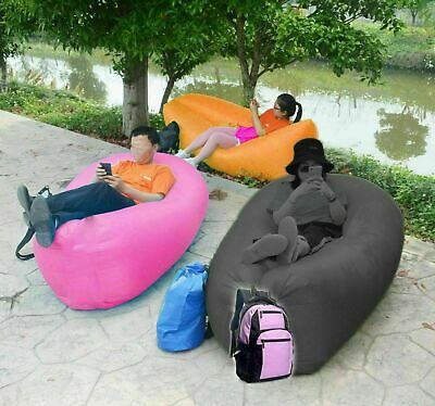 £9.99 • Buy Air Bed Sofa Inflatable Camping Couch Lounger Double Lazy Sleeping Pump New Bag