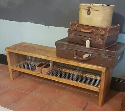 £175 • Buy Vintage/Retro Style Changing/Dressing/Cloak Room Gym Bench Hall Bench Shoe Rack