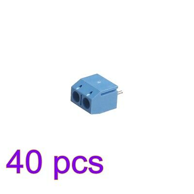 $2.95 • Buy 40PCS Blue 2-Pin Screw Terminal Block Connector 5.08mm Pitch Panel PCB Mount DIY