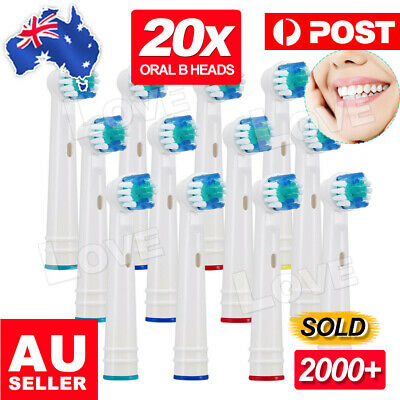 AU15.95 • Buy 20pcs Electric Toothbrush Replacement Heads For Oral B Braun Models Series AU