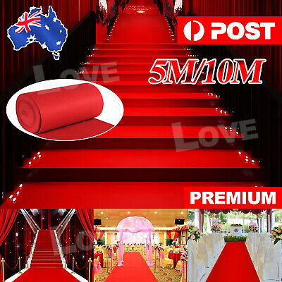 AU19.85 • Buy 5/10*1M Red Carpet Runner Hollywood Awards Night Casino Wedding Party Decoration