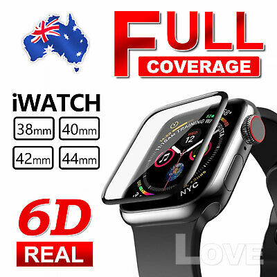 AU5.55 • Buy For Apple Watch Series 4/3/2/1 Tempered Glass Screen Protector 38/42mm 40mm/44mm