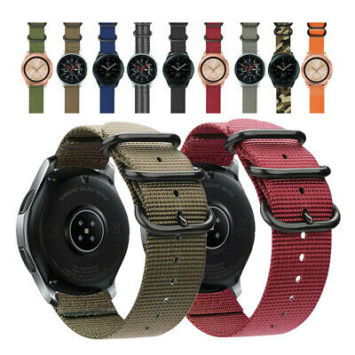$8.98 • Buy Durable Military Woven Nylon Watch Band Strap For Samsung Galaxy Watch 46mm 42mm