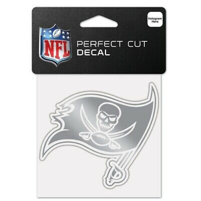 $6.99 • Buy Tampa Bay Buccaneers Silver Metallic Chrome Perfect Cut Decal 4 X4  Nfl Licensed