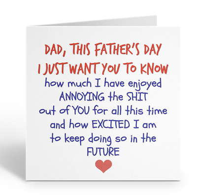 £2.99 • Buy Greetings Card This Fathers Day Dad Funny Humour Love Joke Novelty Comedy Rude