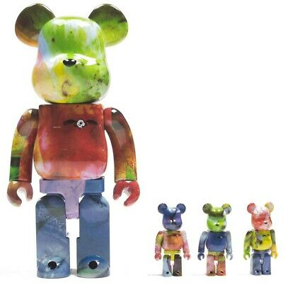 $330 • Buy Medicom BE@RBRICK Pushead 3 Colors 100% 400% 4 Pcs Bearbrick Set