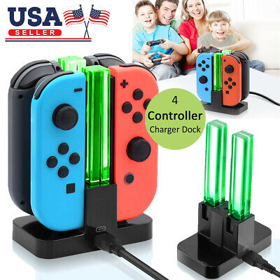 $11.59 • Buy 4in1 Controller Charger Stand LED Charging Dock For Nintendo Switch Joy-Con Pro