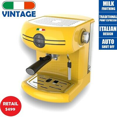 AU149.99 • Buy Vintage Traditional Pump Espresso Coffee Machine Manual - Not Delonghi -Yellow