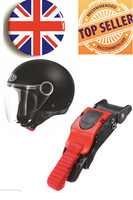 £3.99 • Buy Sawtooth Plastic Motorcycle Helmet Speed Clip Chin Strap Quick Release Red/Black