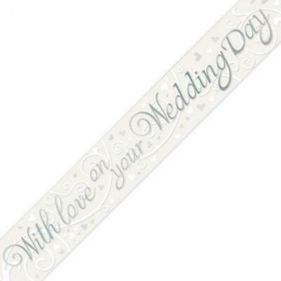 With Love On Your Wedding Day Banner - 2.7m • 2.99£