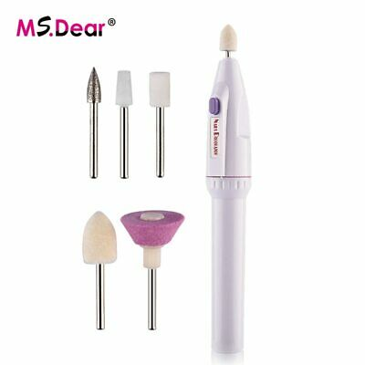 $ CDN30.26 • Buy 5in1 Mini Nail Art Drill Machine Electric Nail Drills Pen Handpiece Bits Mani…