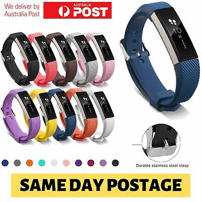 AU3.65 • Buy Fitbit Alta HR Silicone Replacement Band Adjustable Sport Strap With Metal Clasp