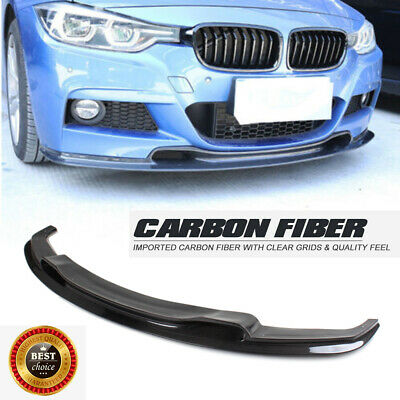 AU678.89 • Buy Carbon Fiber Front Lip Spoiler For BMW 3 Series F30 318i 320i MTech Bumper 12-18