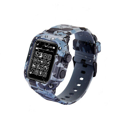 $ CDN24.07 • Buy For Apple Watch Series 5 4 3 2 Waterproof Sport Silicone Band Strap Case Cover