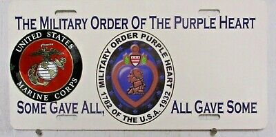 $26.81 • Buy MIlitary Order Purple Heart Front Topper Plate Tag Souvenir Marine Some Gave All