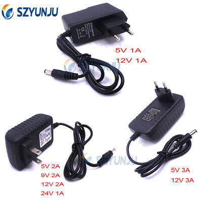 $ CDN2.76 • Buy DC5V 9V 12V 1A 2A 3A To 85-265V Power Supply Adapter US EU Plug LED Strip Light
