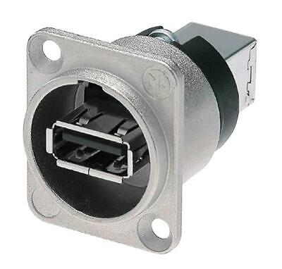 USB A To USB B  Coupler In D Chassis Mounting. Polybag Neutrik NE261 • 8.39£