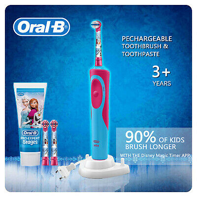 AU49.99 • Buy New Oral-B Power Kids Gift Electric Toothbrush & Toothpaste Disney Frozen Girls