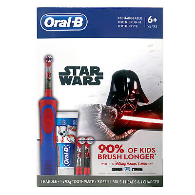 AU59.99 • Buy New Oral-B Power Kids Gift Electric Toothbrush & Toothpaste Disney STARWARS Boys